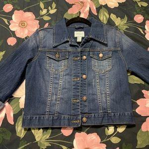 F21 cropped jean jacket